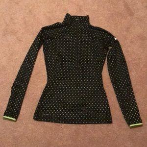 Green polka dot Nike Dri- fit top